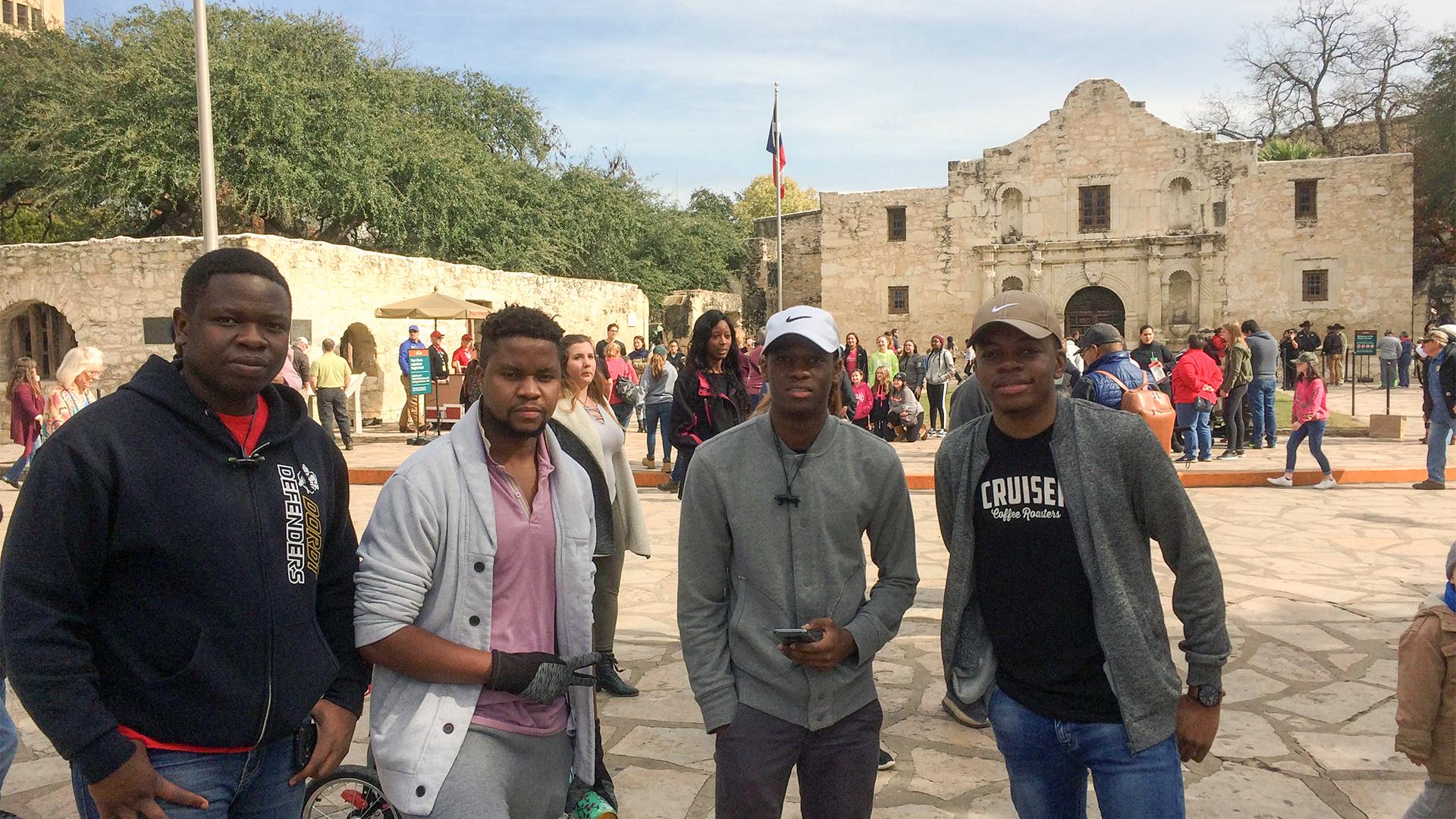 NU Dordt students at the Alamo